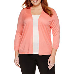 Worthington® Essential 3/4 Sleeve Cardigan - Plus