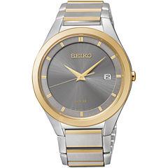 Seiko® Mens Two-Tone Watch SNE242