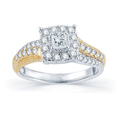 3/4 CT. T.W. Diamond 14K Two-Tone Gold Engagement Ring