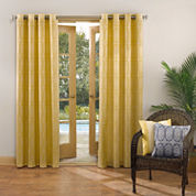 Sun Zero™ Tortola Indoor/Outdoor Woven Mosaic Grommet-Top Curtain Panel