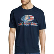 Mossy Oak® Short-Sleeve Wood Flag Logo Tee