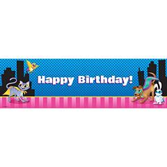 Super Hero Pets Birthday Banner