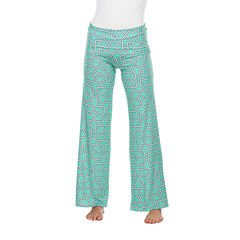 White Mark Summer Time Geometric Palazzo Pants