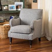 Katy Fabric Club Chair with Nailhead Trim
