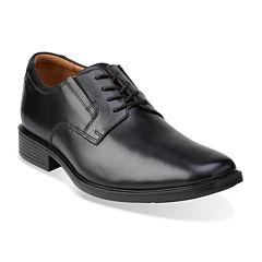 Clarks® Tilden Mens Leather Plain-Toe Dress Shoes