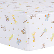 Trend Lab® Jungle Fun Animal Fitted Crib Sheet