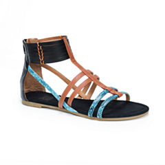 Muk Luks Tegan Womens Gladiator Sandals