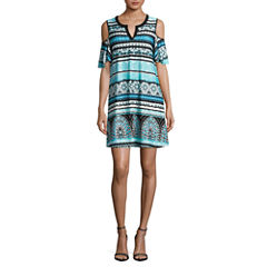 Alyx Short Sleeve Shift Dress-Petites