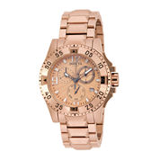 Invicta® Excursion Womens Rose-Tone Stainless Steel Chronograph Bracelet Watch