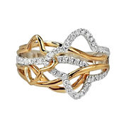LIMITED QUANTITIES 3/8 CT. T.W. Diamond 14K Two-Tone Gold Ring