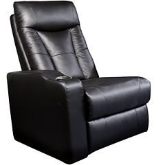 Dallas Home Theater Left Faux-Leather Recliner