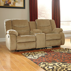 Signature Design by Ashley® Garek Double Reclining Loveseat with Console
