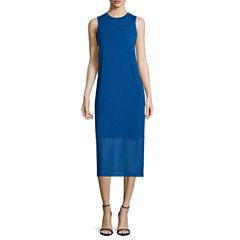 i jeans by Buffalo Sleeveless Illusion Midi Dress