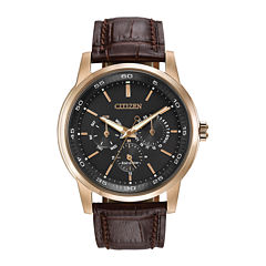 Citizen® Eco-Drive® Mens Brown Leather Strap Watch BU2013-08E