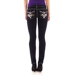 Soundgirl Sequin-Pocket Skinny Jeans