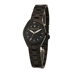 Personalized Dial Womens Black Stainless Steel Bracelet Watch