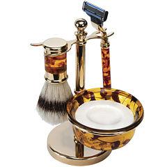 Harry D. Koenig 4-pc. Faux-Tortoiseshell Shave Set For Men