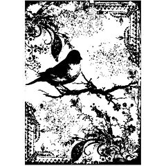 Tim Holtz® Cling Rubber Stamp, Tattered Sparrow