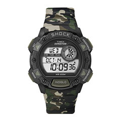 Timex® Mens Shock-Resistant Sport Chronograph Watch