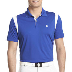 IZOD Golf Short-Sleeve Mesh-Shoulder Polo