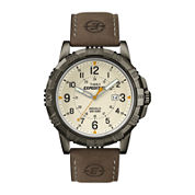 Timex® Rugged Mens Leather Strap Field Watch T499907R