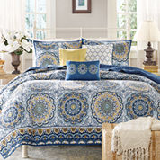 Madison Park Moraga 6-pc. Quilted Coverlet Set