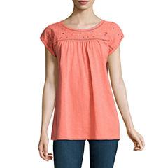 St. John's Bay Short Sleeve Crew Neck T-Shirt-Talls