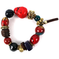 Aris by Treska Chunky Bead Bracelet