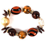 Aris by Treska Brown and Gold-Tone Chunky Bracelet