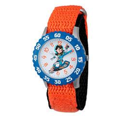 Disney Boys Orange and Blue Miles From Tomorrowland Time Teacher Strap Watch W003054