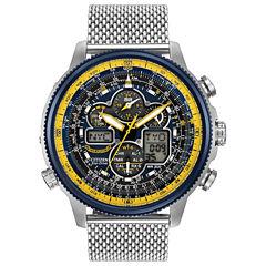 Citizen Mens Silver Tone Bracelet Watch-Jy8031-56l