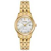 Citizen® Eco-Drive Ladies' Gold Tone Watch With Diamond Accents Ew2392-54A