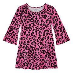 Okie Dokie Short Sleeve Star A-Line Dress - Preschool Girls