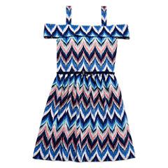 Knit Works Sleeveless Skater Dress - Big Kid Girls