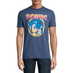 Sonic In Circle SS Tee