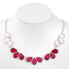 Liz Claiborne Womens Purple Collar Necklace