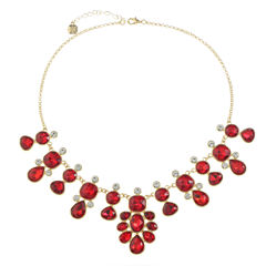 Monet Jewelry Red Statement Necklace