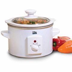 Elite Cuisine MST-250XW 1.5-Quart Round Slow Cooker