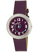 Simplify Unisex The 2700 Plum Leather-Band Watch SIM2707