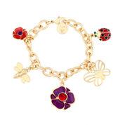 Liz Claiborne® Multicolor Gold-Tone Charm Bracelet