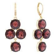 Monet® Purple Stone Gold-Tone Earrings