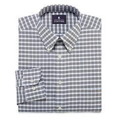 Stafford® Travel Long-Sleeve Wrinkle-Free Oxford Dress Shirt - Big & Tall