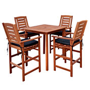 Miramar 5-Pc Bar Height Bistro Set