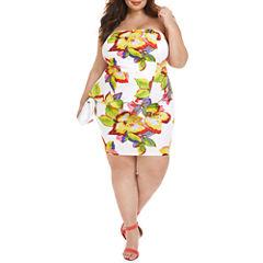 Fashion To Figure Isla Mujeres Tropical Peplum Dress-Plus
