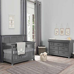 Ozlo Baby Pendelton 2 Pc Furniture Set Marble Gray
