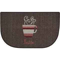 Coffee Stripes Kitchen Wedge Rug