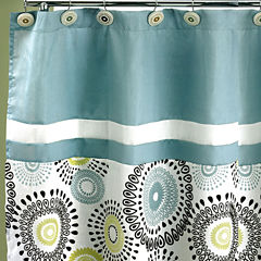 Popular Bath Suzanni Aqua Shower Curtain