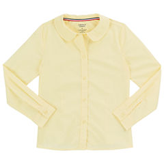 French Toast Long Sleeve Button-Front Shirt Girls