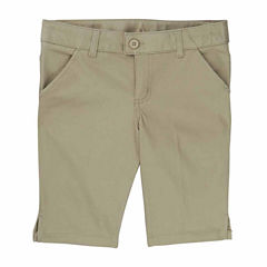 French Toast Bermuda Short Woven Bermuda Shorts - Big Kid Girls