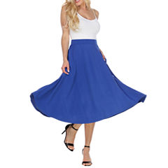 White Mark Flare Flared Skirt